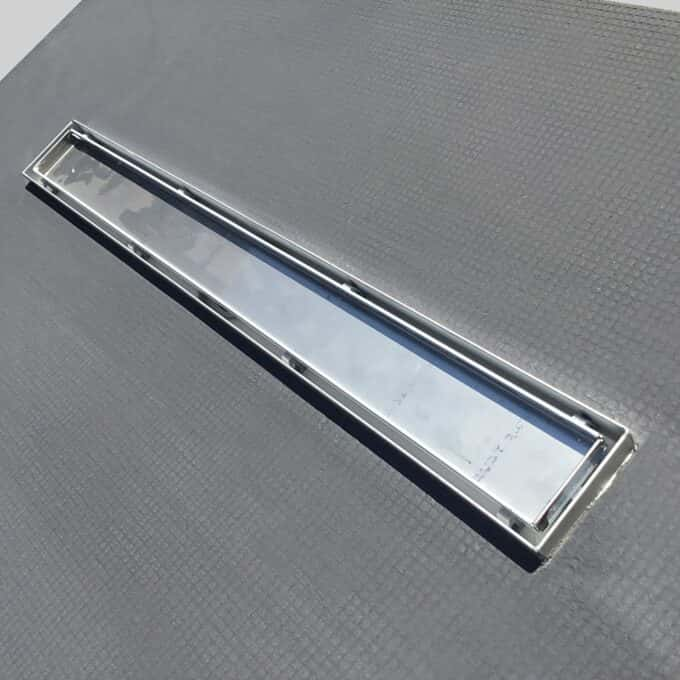 Shower Lay Wetroom Base Tray + Linear Drain for Tiles