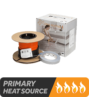 Electric Underfloor Heating Cable - Suitable as a primary heat source