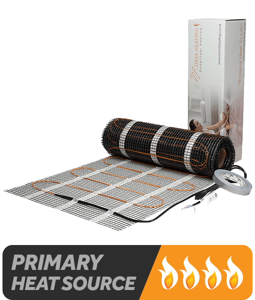 lectric Underfloor Heating Mat - Suitable as a primary heat source