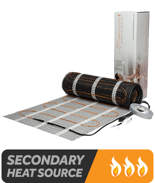 Electric Underfloor Heating Mat - Suitable as a secondary heat source