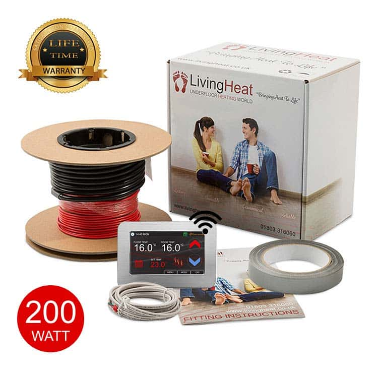 200w/m2 Under Tile Floor Heating Loose Wire Cable Kits
