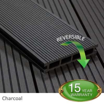 Charcoal Composite Decking Board - Tough Decking, Torquay