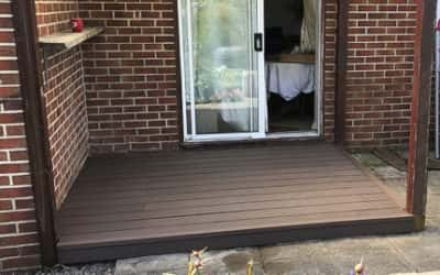 Chocolate Brown Wpc Decking Installation By MDV Carpenters