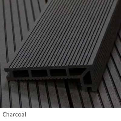 Charcoal Composite Decking Step Nosing