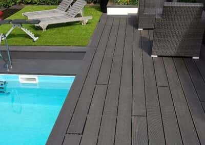 Charcoal Composite Decking Installed 2