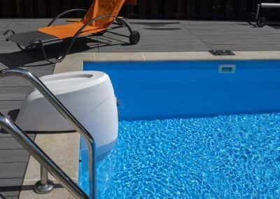 Charcoal Pool Side Decking